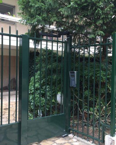 fermeture de résidence par portillon et portier interphone video ©preciselec