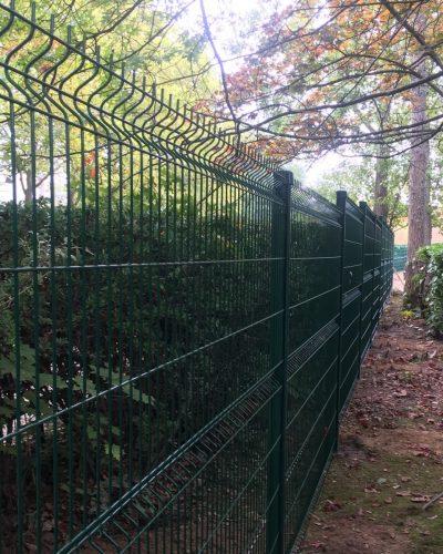 fermeture de résidence par clôture grillagée ©preciselec