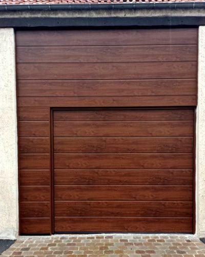 porte sectionnelle hormann lpu40 avec parties fixes assorties
