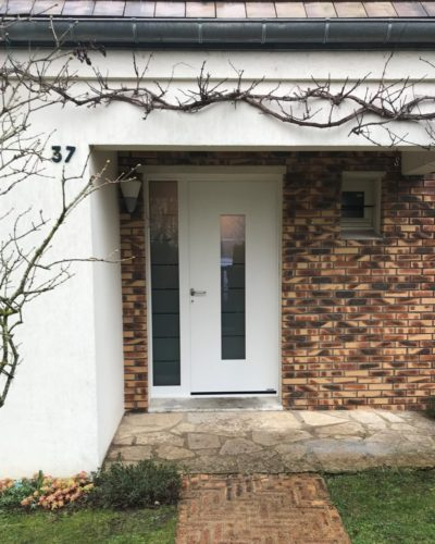 Porte d'entrée alu thermosafe Hormann modèle n°504