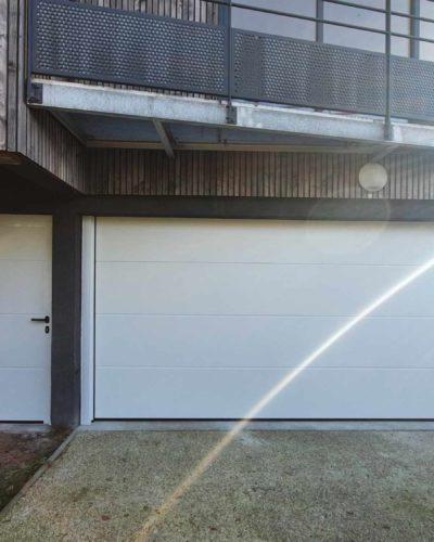 ensemble portes sectionnelle et portillon independant
